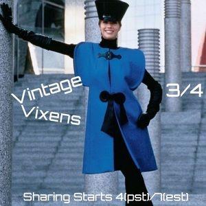 THURSDAY 3/4 Vintage Vixens Sign Up Sheet